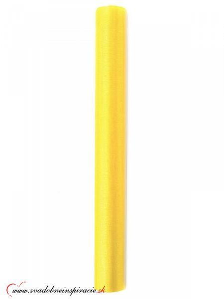 Organza 0,36x9 m - Žltá - Obrázok č. 2