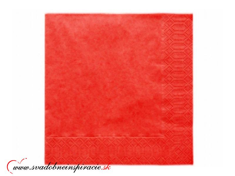 Servítky 3-vrstvové - červené (20 ks)  - Obrázok č. 1