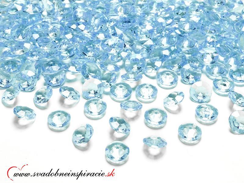 Dekoračné kamienky - DIAMANTÍKY malé(tyrkys), 100  - Obrázok č. 1