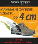 Silikónové vložky do topánok na zvýšenie vzrastu, L
