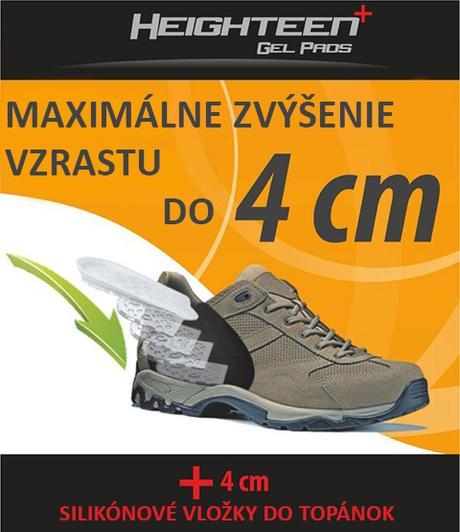 Silikónové vložky do topánok na zvýšenie vzrastu - Obrázok č. 1
