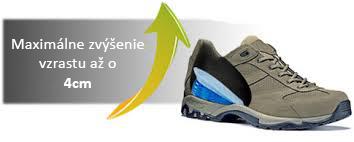 Silikónové vložky do topánok na zvýšenie vzrastu - Obrázok č. 4