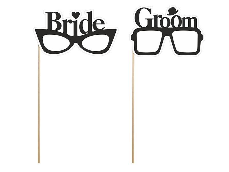 """Kartičky na fotenie """"BRIDE & GROOM"""" - Obrázok č. 1"""