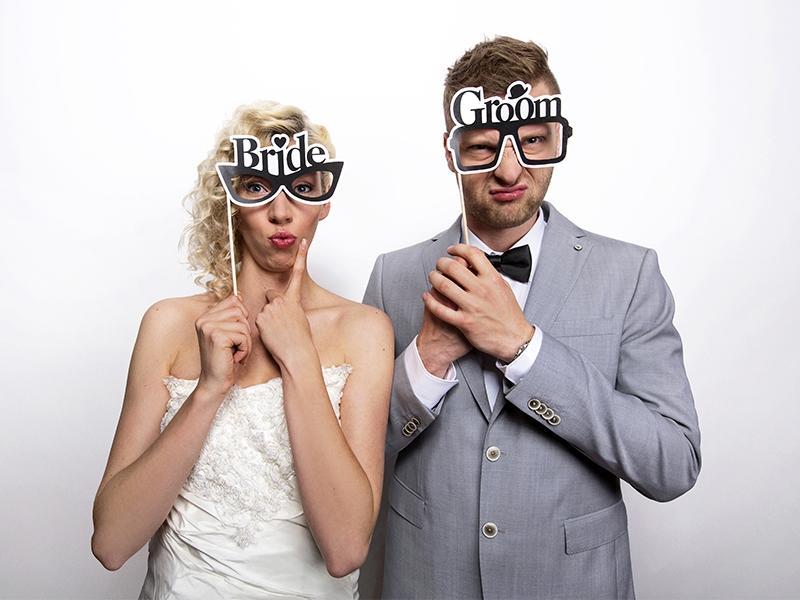 """Kartičky na fotenie """"BRIDE & GROOM"""" - Obrázok č. 2"""