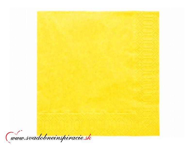 Servítky 3-vrstvové - Žlté - Obrázok č. 1