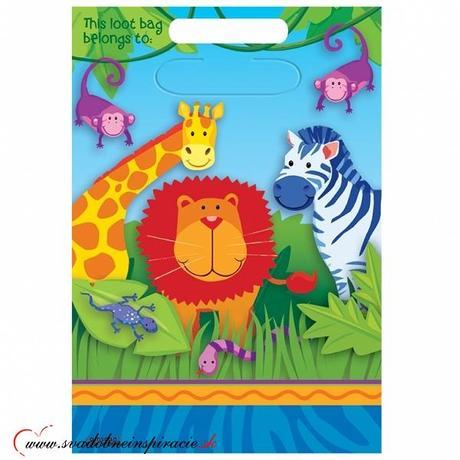 Darčekové tašky JUNGLE ANIMALS (8 ks) - Obrázok č. 1