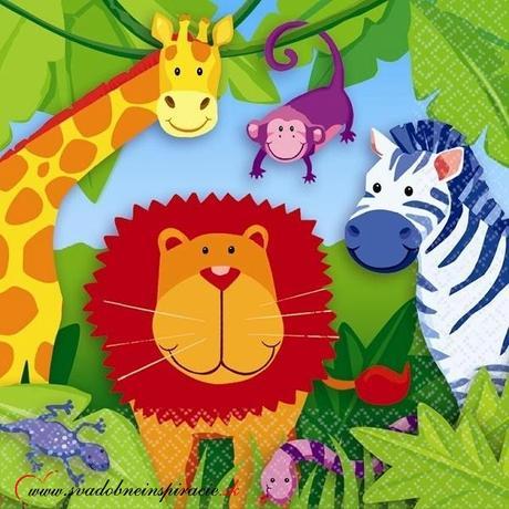 Detské servítky JUNGLE ANIMALS (16 ks) - Obrázok č. 1