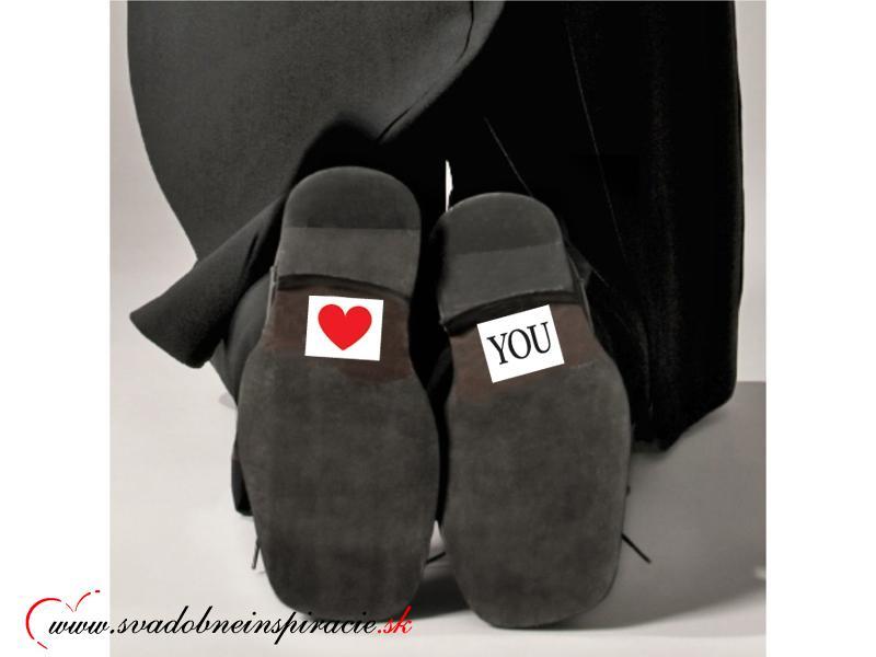 Nálepky na topánky LOVE YOU (2 ks) - Obrázok č. 2