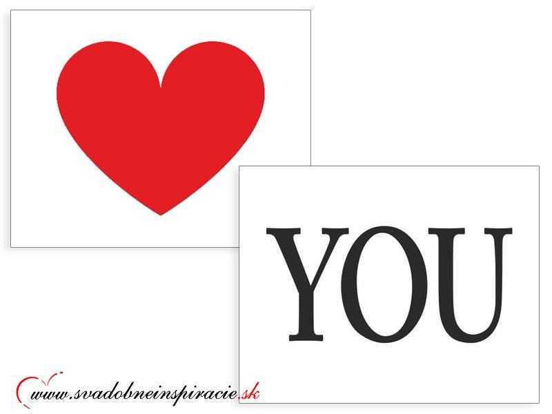 Nálepky na topánky LOVE YOU (2 ks) - Obrázok č. 1