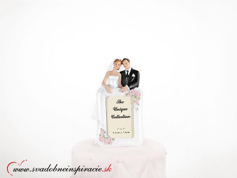 Postavička na svadobnú tortu a fotorámik v jednom - Obrázok č. 1