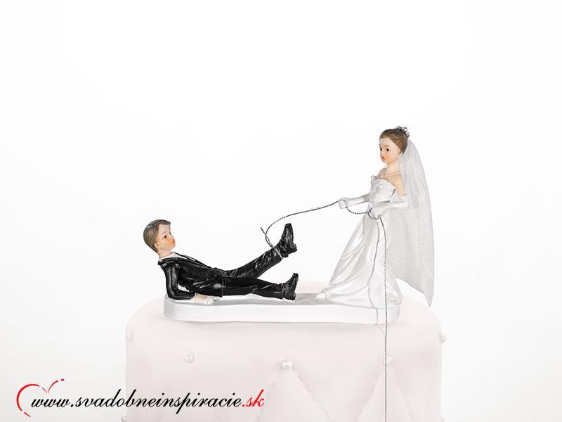 Postavička na svadobnú tortu - Ženích na úteku - Obrázok č. 1