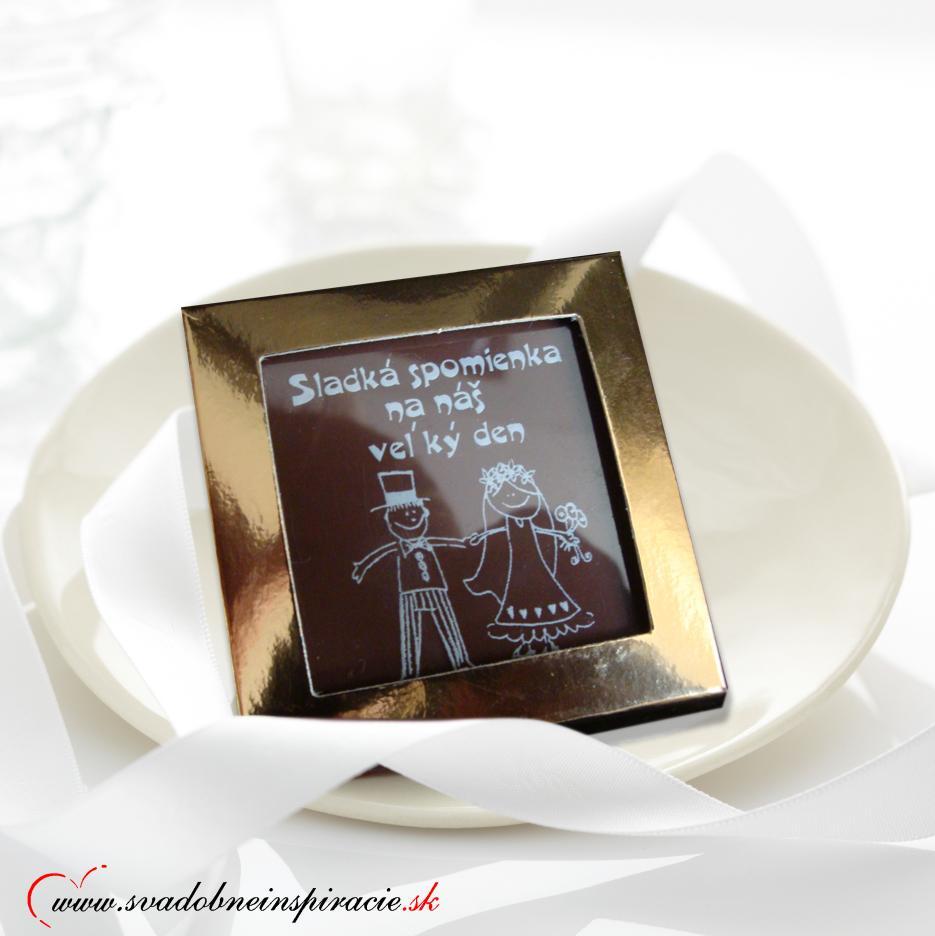 Svadobná čokoládka v kartóniku - Obrázok č. 1