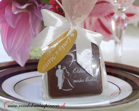"""Svadobná čokoládka """"Tablička"""" - aj s Vašimi menami - Obrázok č. 1"""