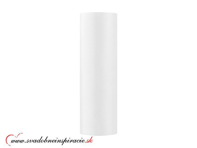 Satén v rolke - Biely (0,16x9 m) - Obrázok č. 1