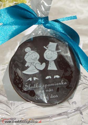 """Svadobná čokoládka """"Dukátik"""" - aj s Vašimi menami - Obrázok č. 3"""