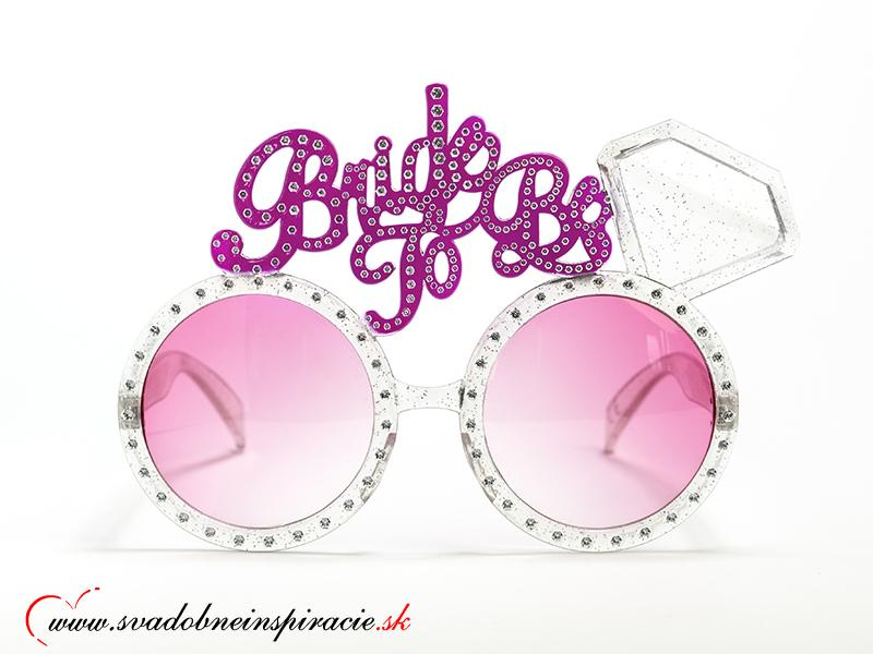 """Okuliare """"BRIDE TO BE"""" -pre všetky budúce nevesty - Obrázok č. 1"""