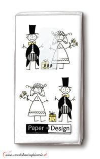 Svadobné papierové vreckovky JUST MARRIED - Obrázok č. 1