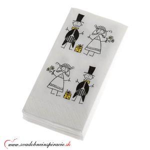 Svadobné papierové vreckovky JUST MARRIED - Obrázok č. 2