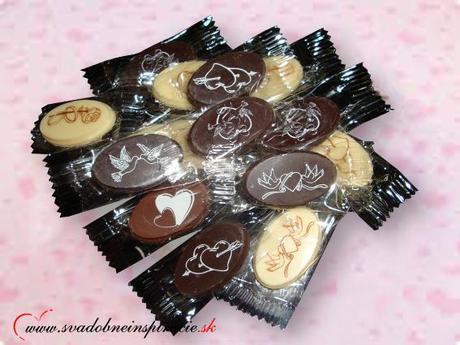 Mini svadobné čokoládky (150 ks) len 0,14 Eur/ks - Obrázok č. 2