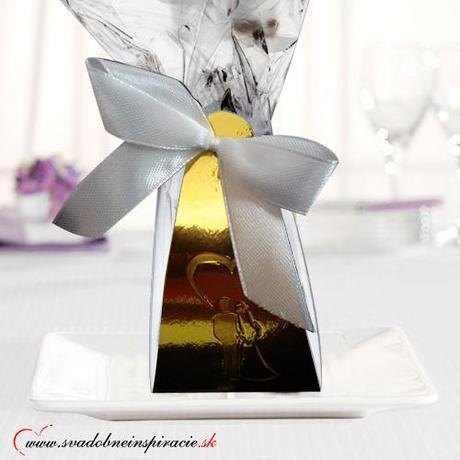 Svadobné čokoládky (5 ks) v škatuľke - Obrázok č. 1