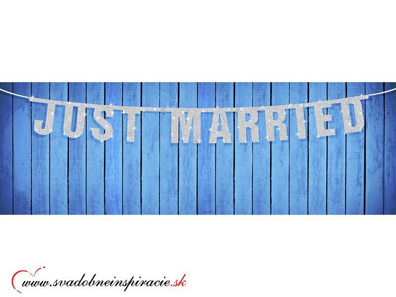 Svadobná girlanda JUST MARRIED (1,7 m) - Obrázok č. 1