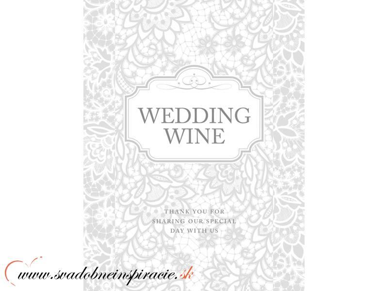 Svadobné etikety na víno (50 ks) - Obrázok č. 1