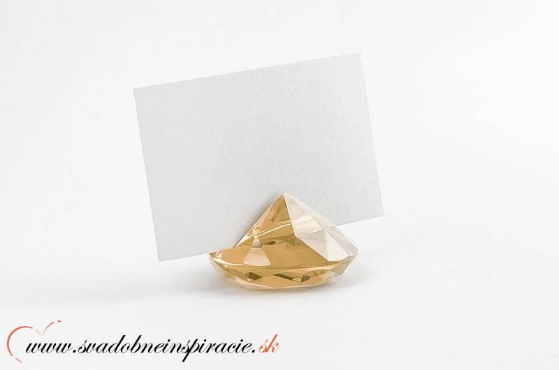 """Stojan na menovky """"DIAMANT"""" - zlatý (6 ks)  - Obrázok č. 1"""
