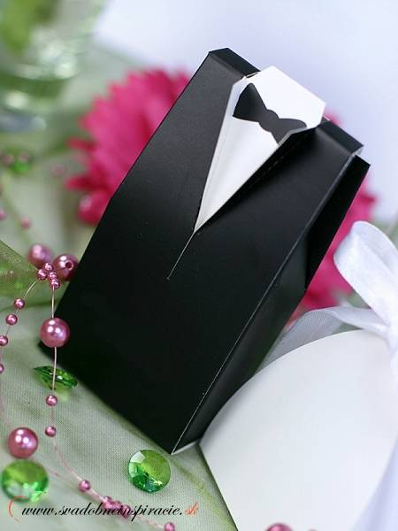 """Krabičky na darčeky """"Ženích"""" (10 ks) - Obrázok č. 3"""
