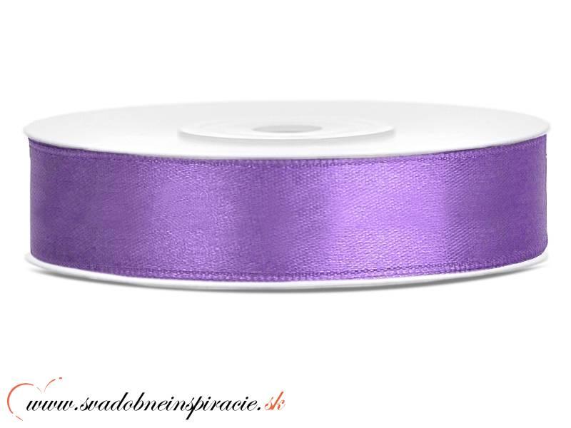 Ozdobná saténová stuha 1,2 cm fialová - Obrázok č. 1
