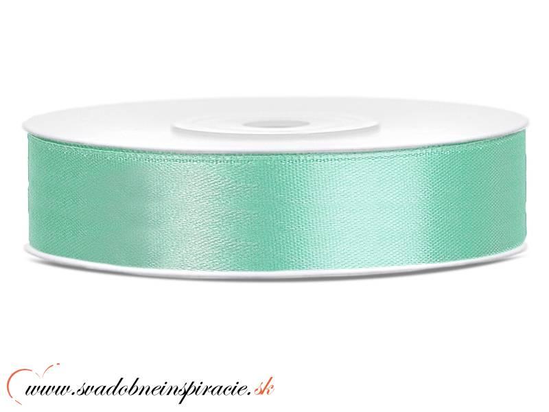 Ozdobná saténová stuha 1,2 cm zelená - Obrázok č. 1