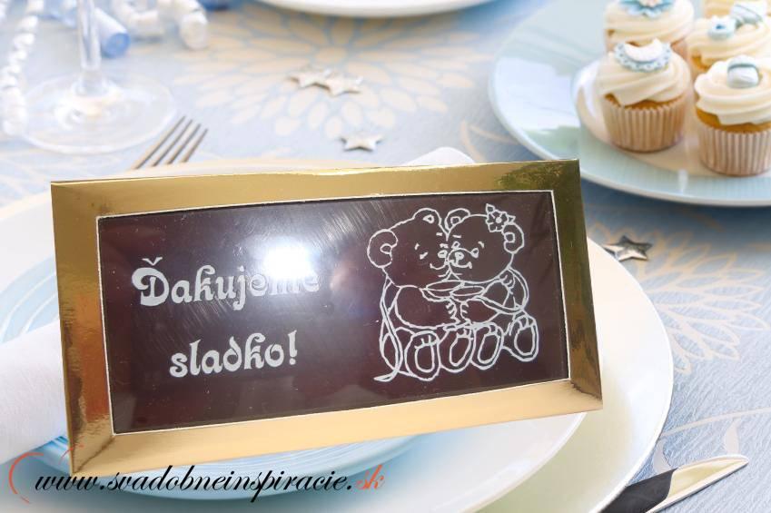 Svadobná čokoládka v kartóniku (10x5 cm) - Obrázok č. 2