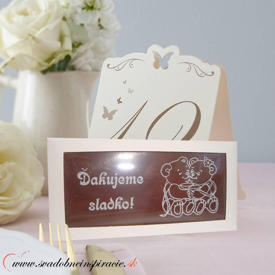 Svadobná čokoládka v kartóniku (10x5 cm) - Obrázok č. 3