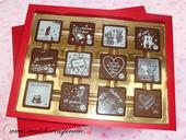 Čokoládová bonboniérka I LOVE YOU,