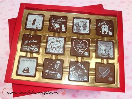 Čokoládová bonboniérka I LOVE YOU - Obrázok č. 1