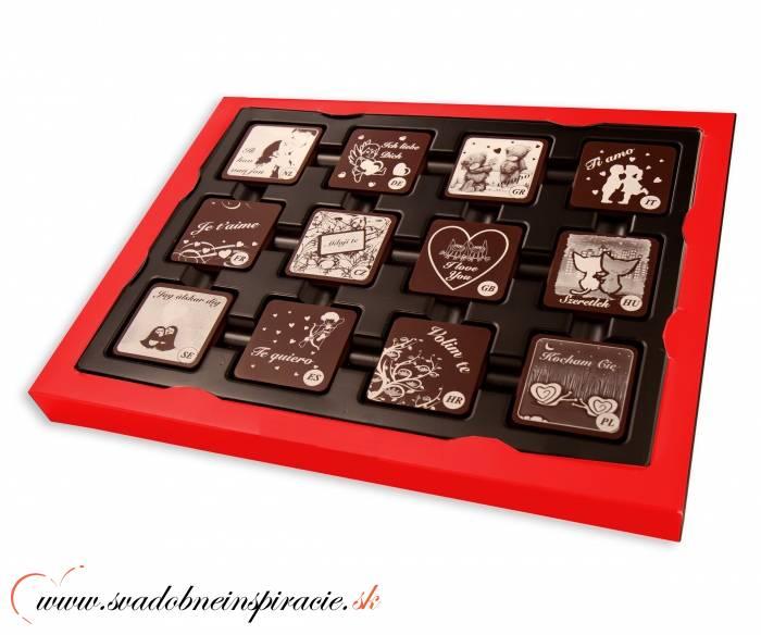 Čokoládová bonboniérka I LOVE YOU - Obrázok č. 2