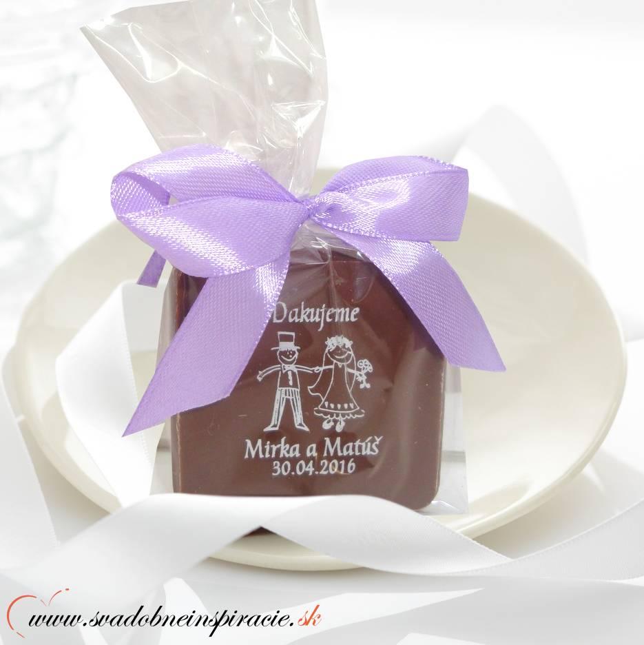 """Svadobná čokoládka """"TABLIČKA"""" - PERSONALIZOVANÁ - Obrázok č. 1"""