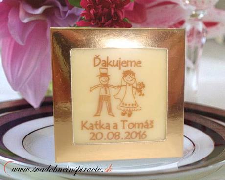Svadobná čokoládka v kartóniku - PERSONALIZOVANÁ ( - Obrázok č. 1
