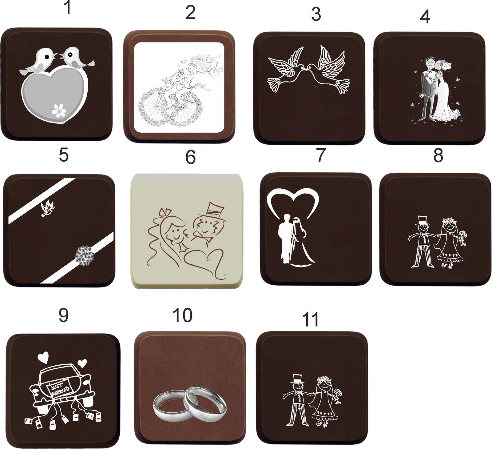 Svadobná čokoládka v kartóniku - PERSONALIZOVANÁ ( - Obrázok č. 3