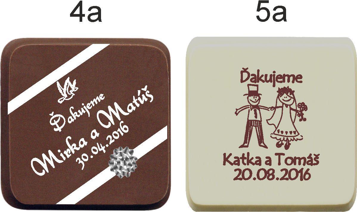 Svadobná čokoládka v kartóniku - PERSONALIZOVANÁ ( - Obrázok č. 4