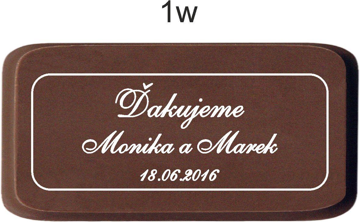 Svadobná čokoládka v kartóniku - PERSONALIZOVANÁ ( - Obrázok č. 2
