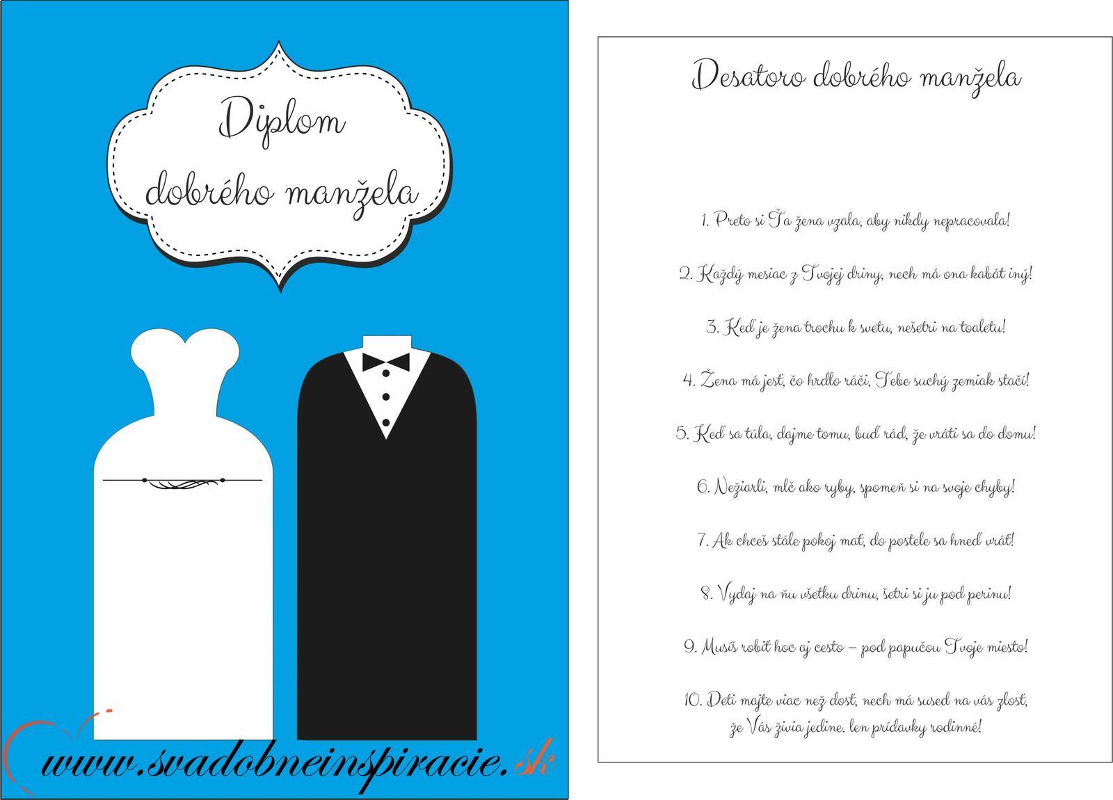 Diplomy mladomanželov  - Obrázok č. 3