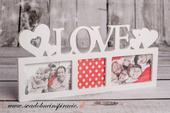 "Fotorámik ""LOVE"" (na 3 ks fotografií) ,"