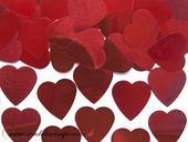 Confetti - Červené srdiečka (10 g) ,