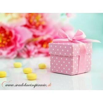 Krabičky na darčeky bodkované RUŽOVE (10 ks) - Obrázok č. 1