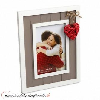 """Fotorámik """"VINTAGE HEART"""" (10x15 cm) - Obrázok č. 1"""