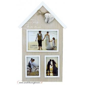 """Fotorámik """"MY HOUSE"""" (na 3 ks fotografií) - Obrázok č. 1"""