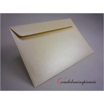 Obálky perleťové - SMOTANOVÉ (5 ks)  - Obrázok č. 1