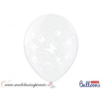 """Balóny """"MOTÝLIKY"""" - Priesvitné (6 ks)  - Obrázok č. 1"""