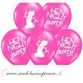 "Balóny ""HEN NIGHT PARTY"" - Fuchsia (6 ks),"