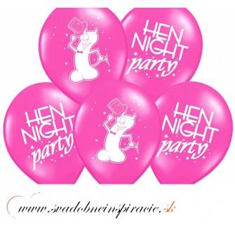 """Balóny """"HEN NIGHT PARTY"""" - Fuchsia (6 ks) - Obrázok č. 1"""